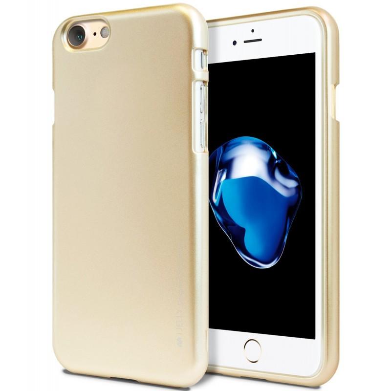 Silikonové pouzdro Mercury i-Jelly METAL pro Apple iPhone 6/6S Plus, Gold