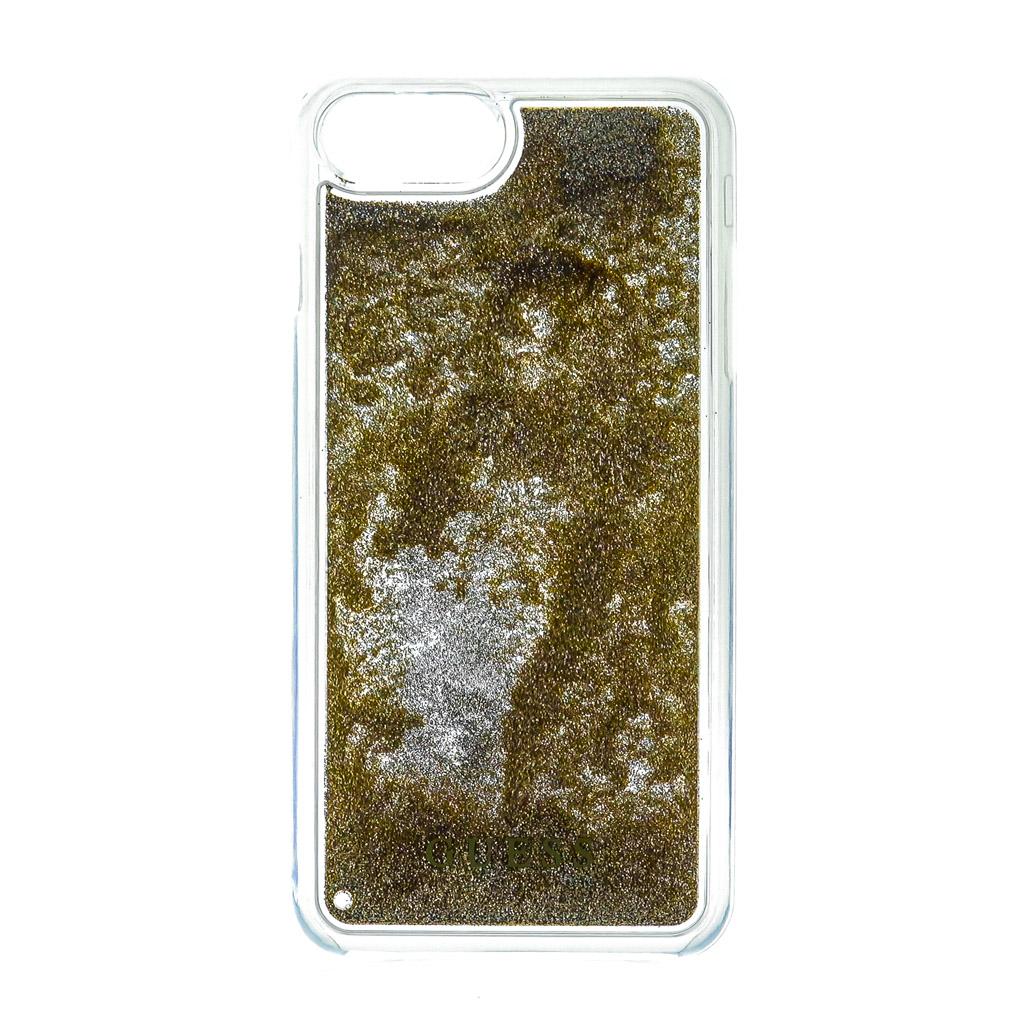 Pouzdro Guess Liquid Glitter Hard Triange pro iPhone 6/6S/7, gold