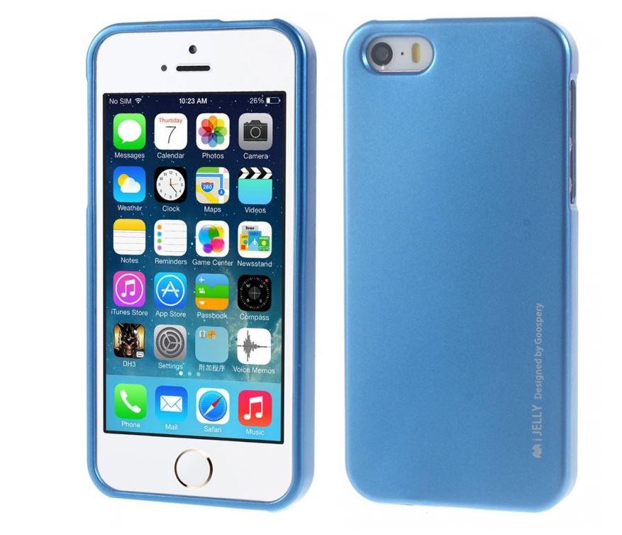 Silikonové pouzdro Mercury i-Jelly METAL pro Apple iPhone 6/6S, Blue