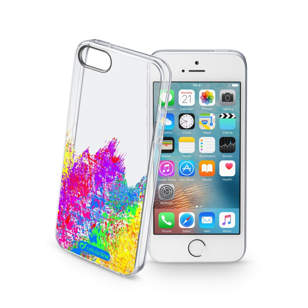 Pouzdro Cellularline STYLE pro Apple iPhone 5/5S/SE, motiv ART