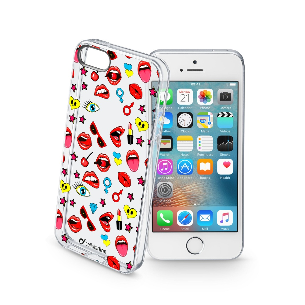 Pouzdro Cellularline STYLE pro Apple iPhone 5/5S/SE, motiv POP