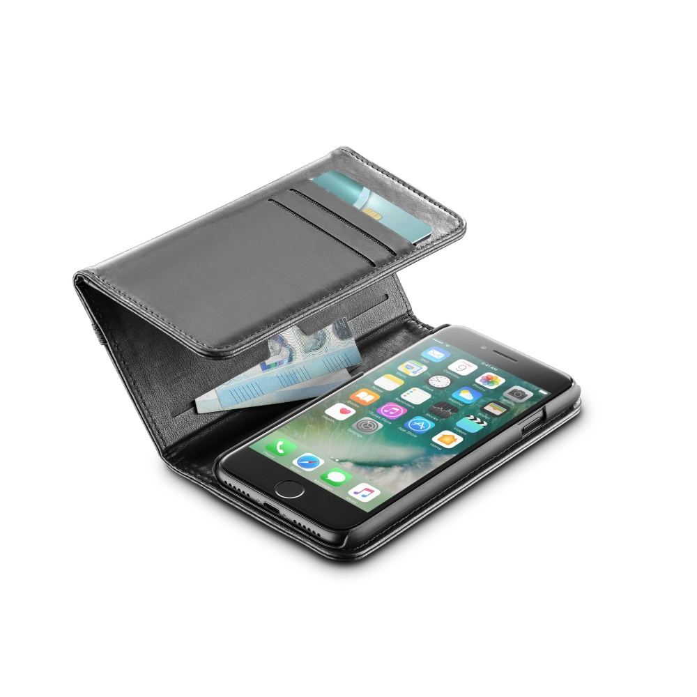 CELLULARLINE WALLET Flipové pouzdro Apple iPhone 7 black