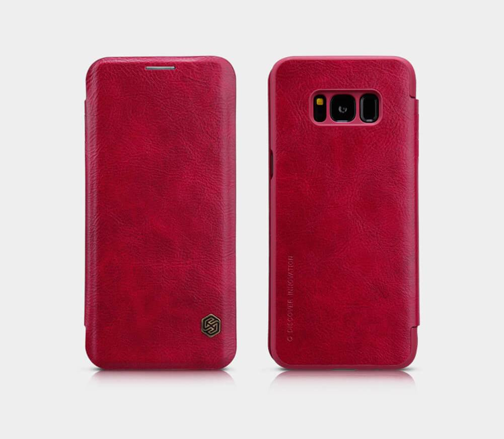 Nillkin Qin Book flipové pouzdro Samsung Galaxy S8 Plus red