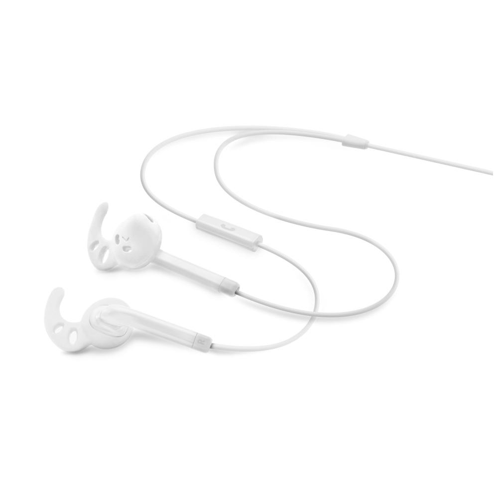 FIXED EGG3 Sportovní sluchátka s mikrofonem white