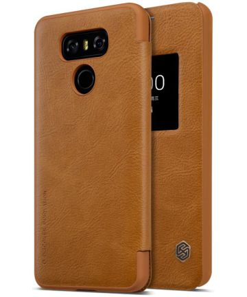 Nillkin Qin S-View flipové pouzdro LG G6 brown