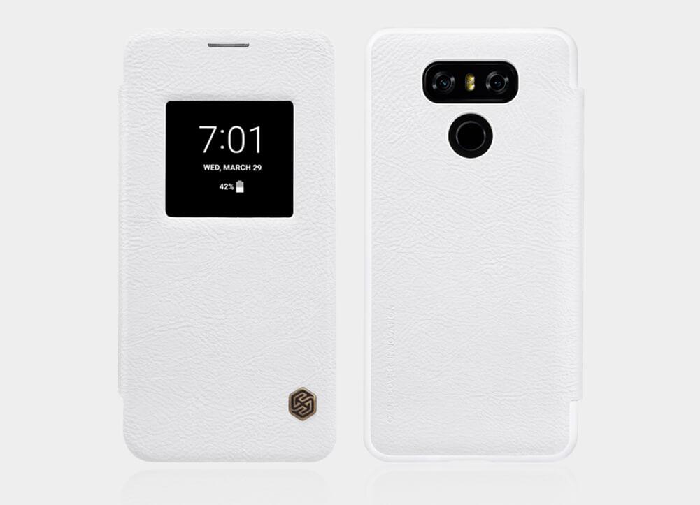 Nillkin Qin S-View flipové pouzdro LG G6 white