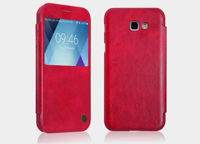 Nillkin Qin S-View flipové pouzdro Samsung Galaxy A3 2017 red