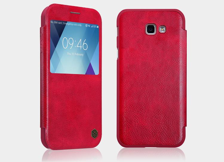 Nillkin Qin S-View flipové pouzdro Samsung Galaxy A5 2017 red