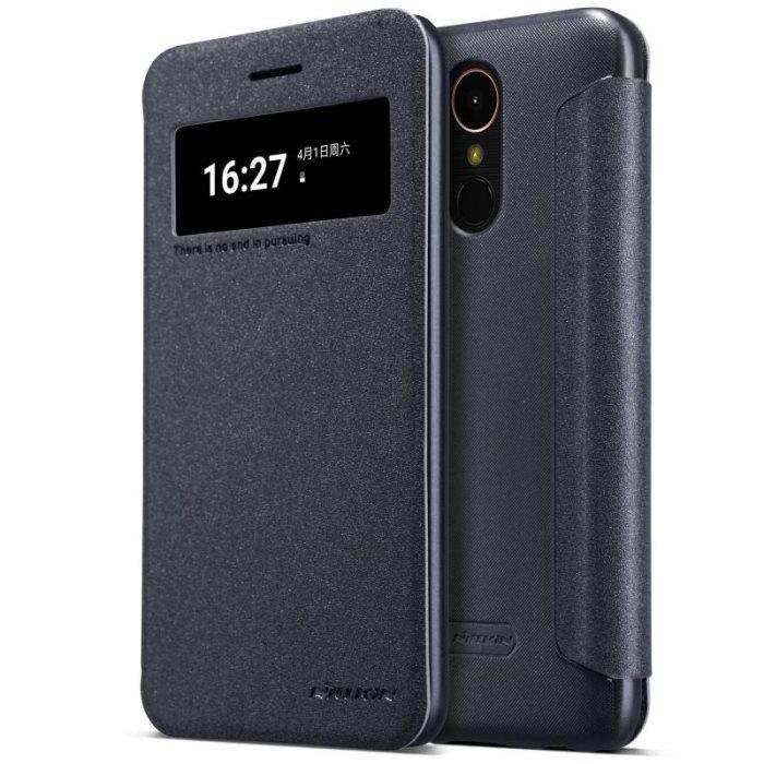 Nillkin Sparkle S-View pouzdro flip LG K10 2017 black