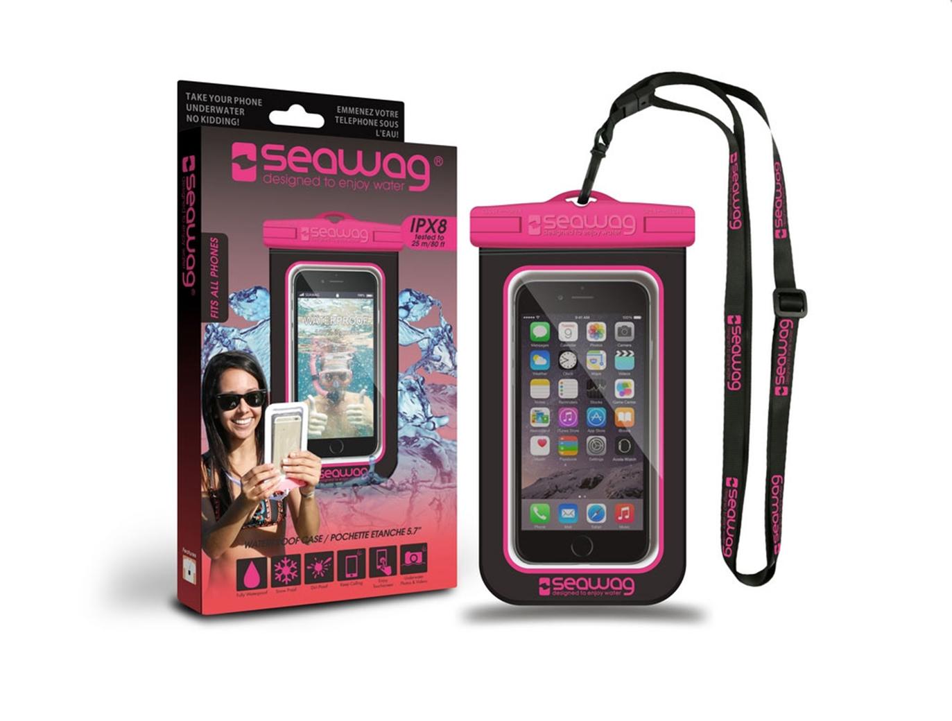 """SEAWAG Voděodolné pouzdro pro telefon 5.7"""" black/pink"""
