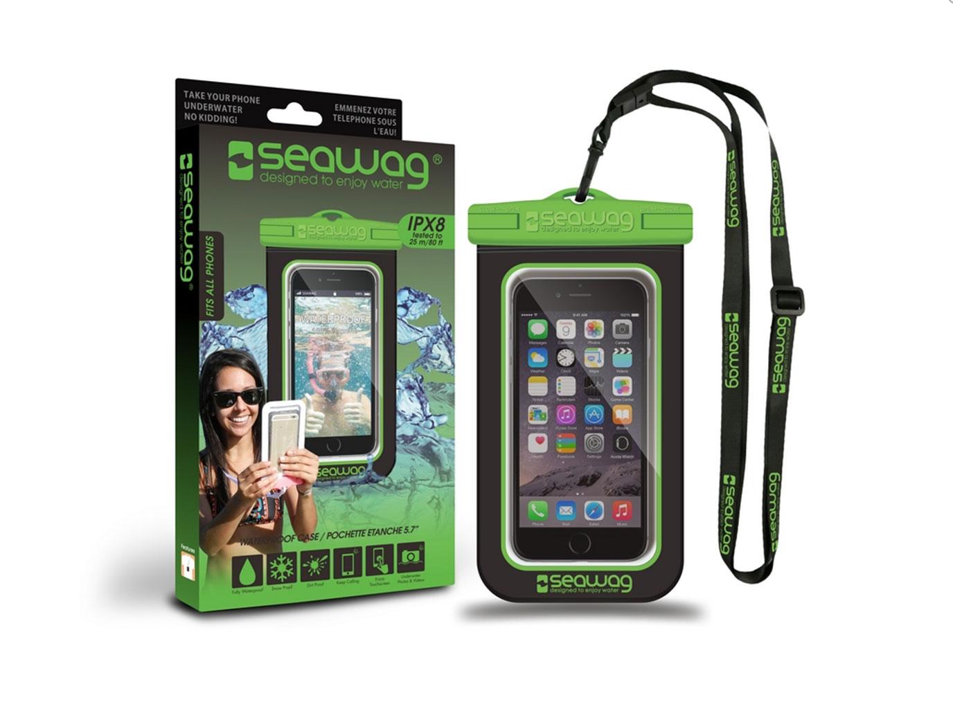 """SEAWAG Voděodolné pouzdro pro telefon 5.7"""" black/green"""