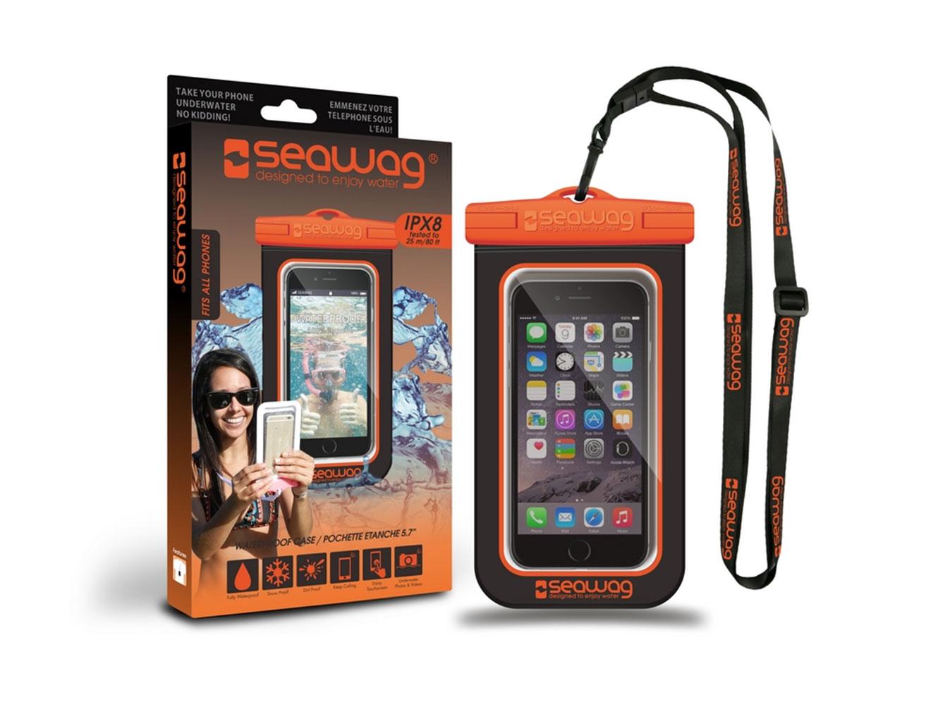 "SEAWAG Voděodolné pouzdro pro telefon 5.7"" black/orange"