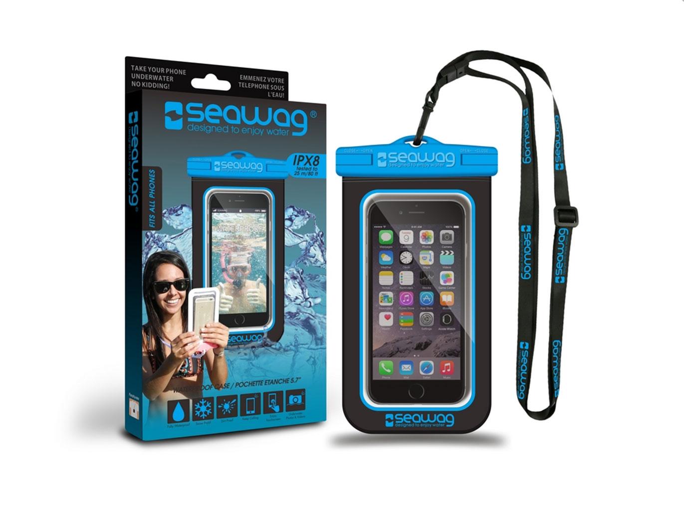 """SEAWAG Voděodolné pouzdro pro telefon 5.7"""" black/blue"""