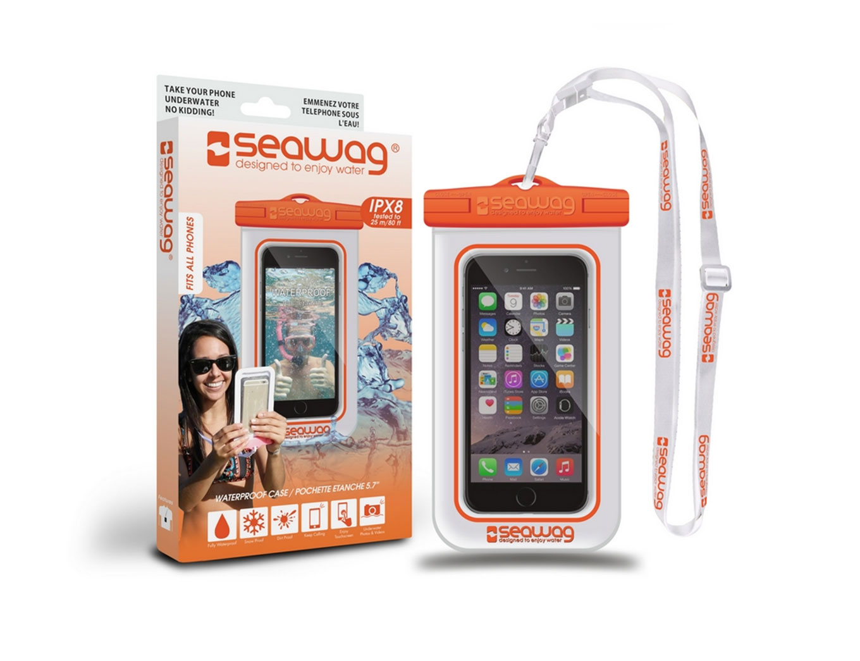 """SEAWAG Voděodolné pouzdro pro telefon 5.7"""" white/orange"""