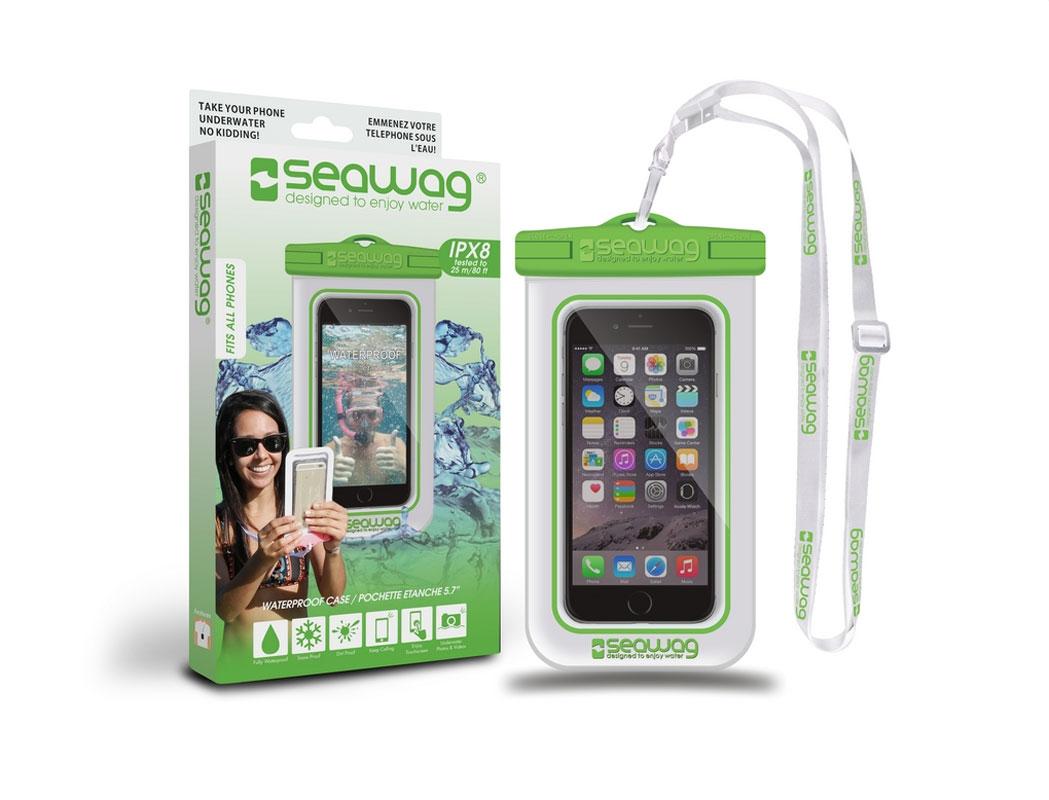 "SEAWAG Voděodolné pouzdro pro telefon 5.7"" white/green"