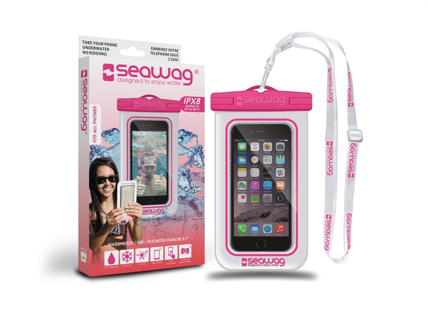 """SEAWAG Voděodolné pouzdro pro telefon 5.7"""" white/pink"""