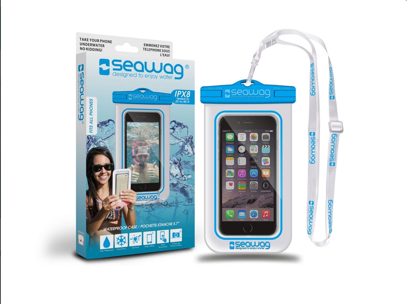 "SEAWAG Voděodolné pouzdro pro telefon 5.7"" white/blue"