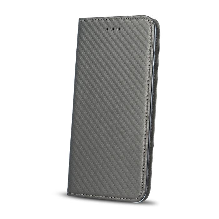 Smart Carbon flipové pouzdro Apple iPhone 5/5s/SE steel