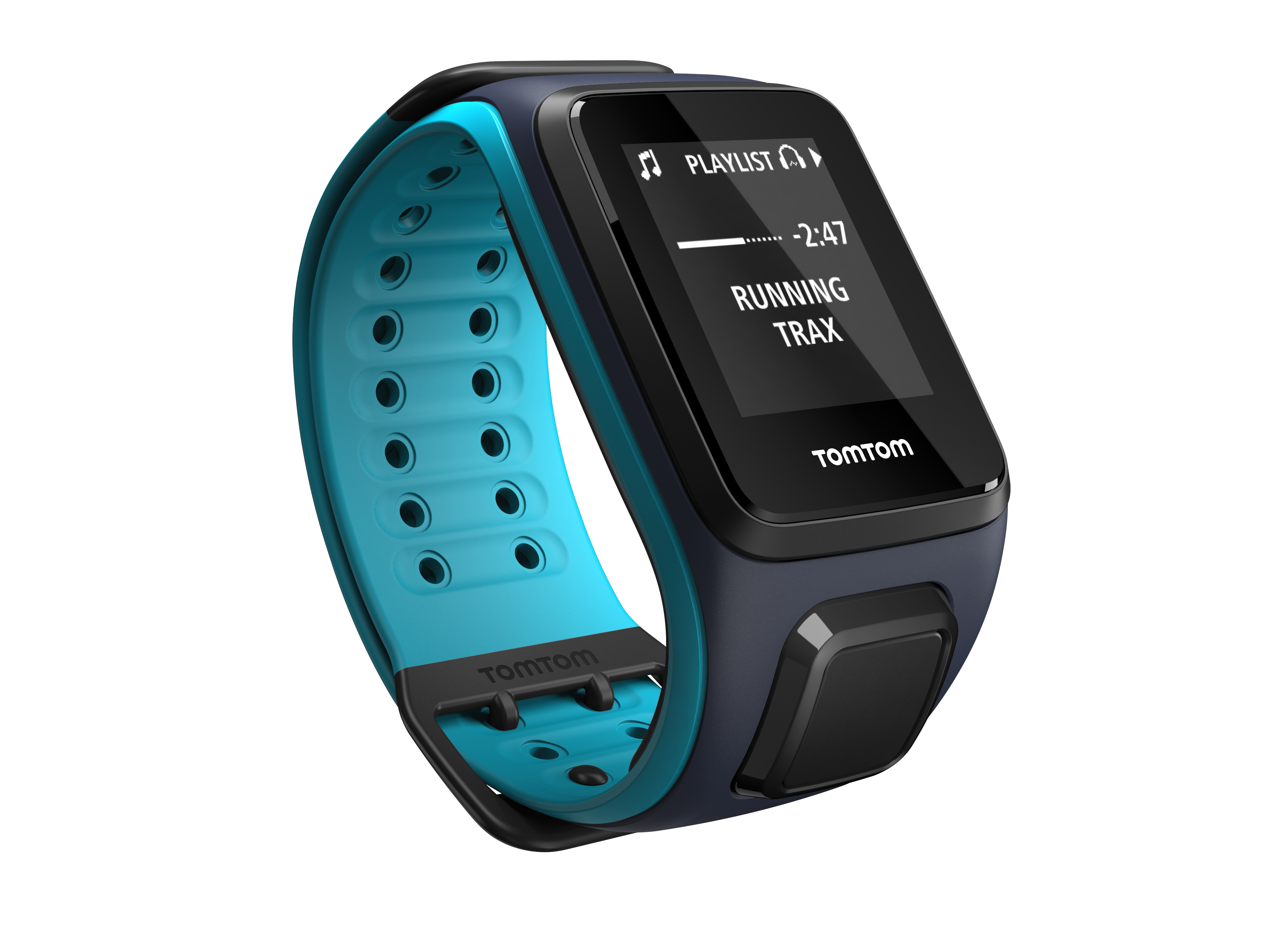 TomTom GPS hodinky Runner 2 Cardio + Music (L), Blue/Blue + Bluetooth sluchátka