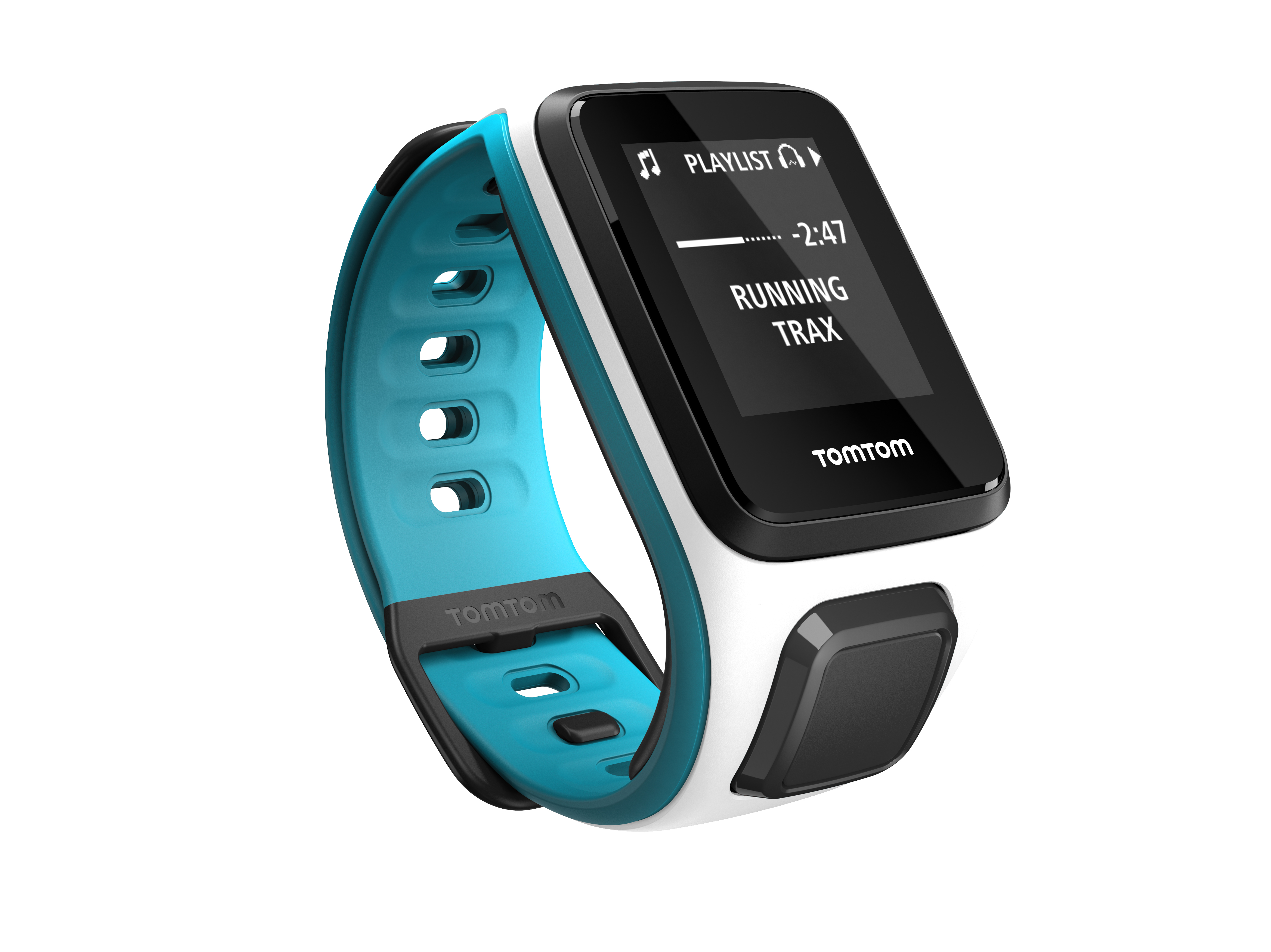 TomTom GPS hodinky Runner 2 Cardio + Music (S), White/Blue