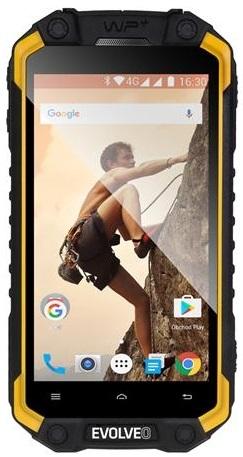 EVOLVEO StrongPhone Q9 LTE Black-Yellow