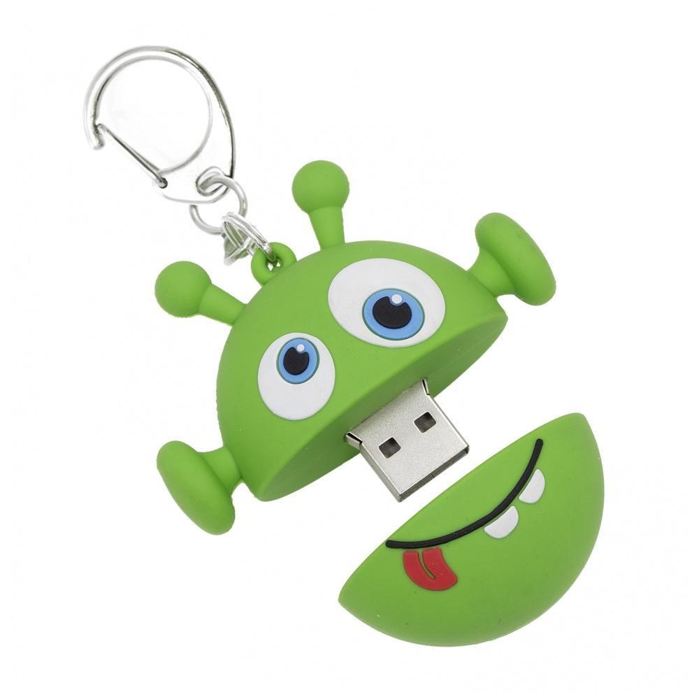 Dětský USB flash disk MY DOODLES, motiv ALIEN, 8GB