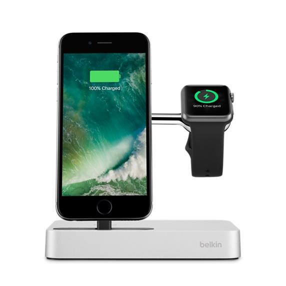 BELKIN VALET Dokovací a nabíjecí stanice pro iPhone a Apple watch - Silver