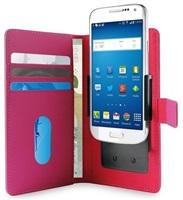 """PURO SMART Wallet flipové pouzdro 4.7"""" velikost L pink"""