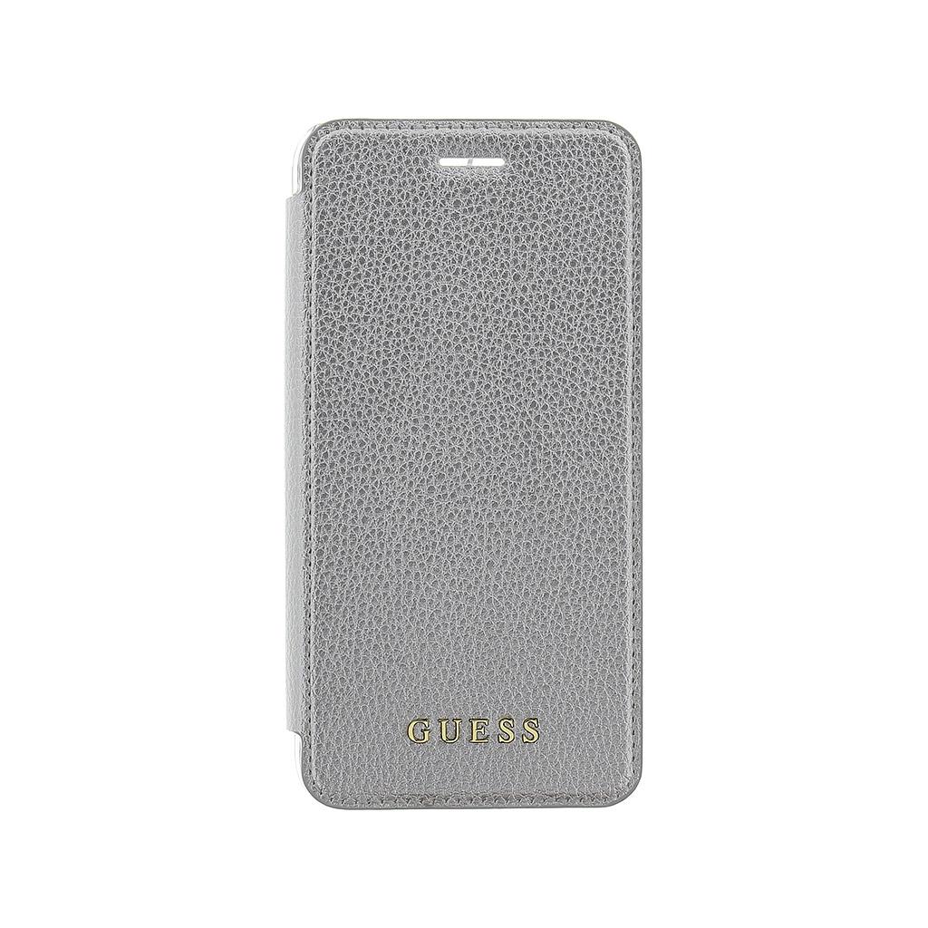 Guess IriDescent Book GUFLBKP7LIGLTSI pouzdro flip Apple iPhone 7 Plus silver