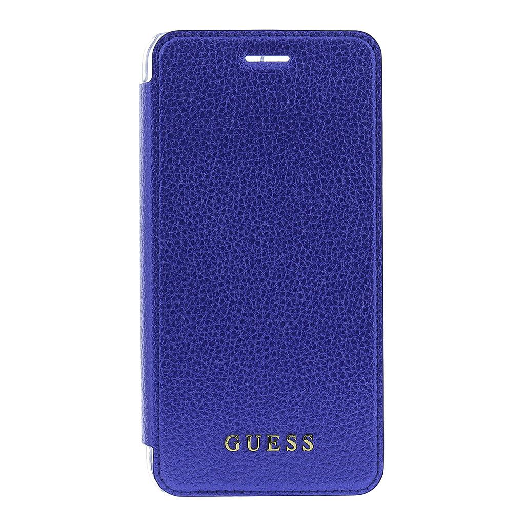 Guess IriDescent Book GUFLBKP7LIGLTBL pouzdro flip Apple iPhone 7 Plus blue