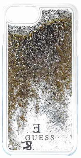 Pouzdro Guess Liquid Glitter Hard pro iPhone 6/6S/7, gold