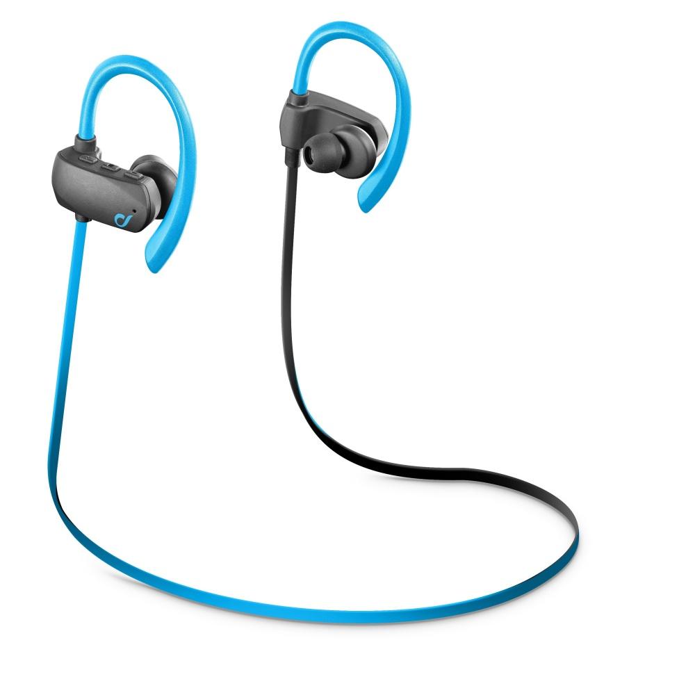 Sportovní sluchátka CELLULARLINE SPORT BOUNCE ultralight iris blue