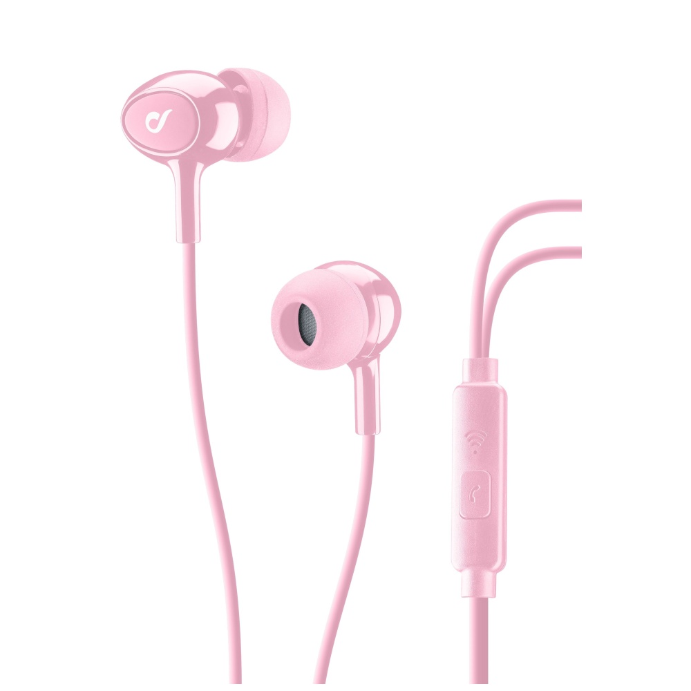 In-ear sluchátka CELLULARLINE ACOUSTIC 3,5 mm jack rose
