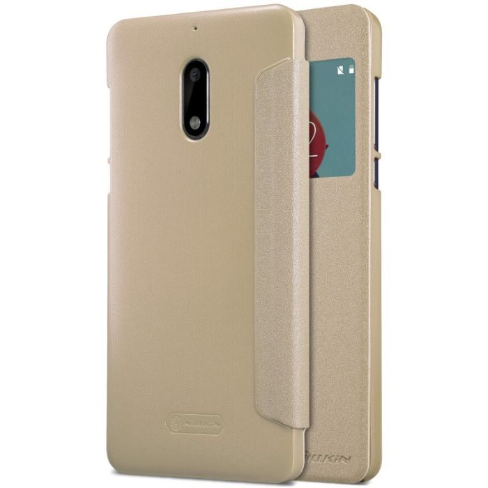 Nillkin Sparkle S-View flipové pouzdro Nokia 6 gold