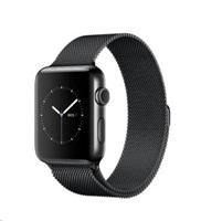 Apple Watch Series 2, 38mm pouzdro z vesmírně černé nerezové oceli + vesmírně černý Milánský řemínek
