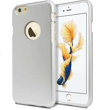 Silikonové pouzdro MERCURY iJELLY METAL HOLE pro Apple IPHONE 6 PLUS/6S PLUS, STŘÍBRNÉ