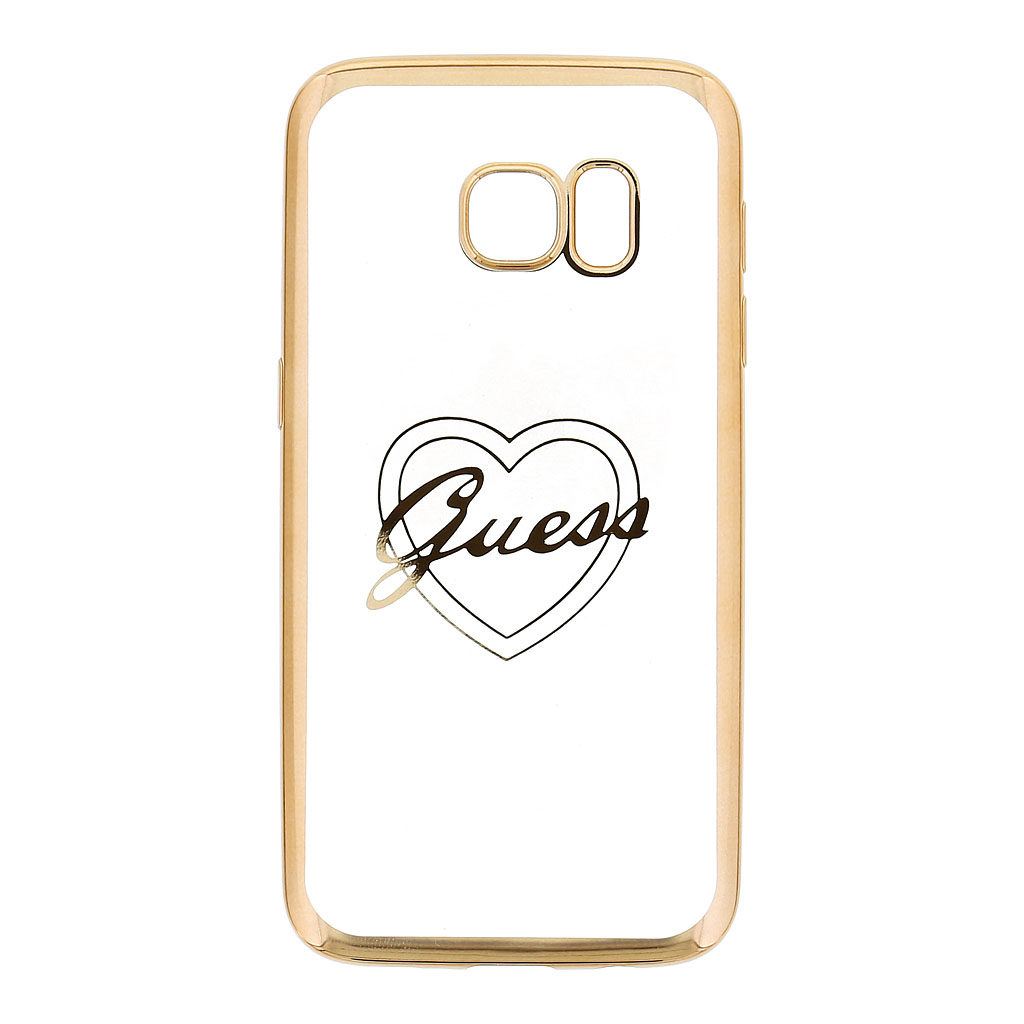 Pouzdro Guess Liquid Glitter Hard pro Samsung G955 Galaxy S8 Plus, Gold