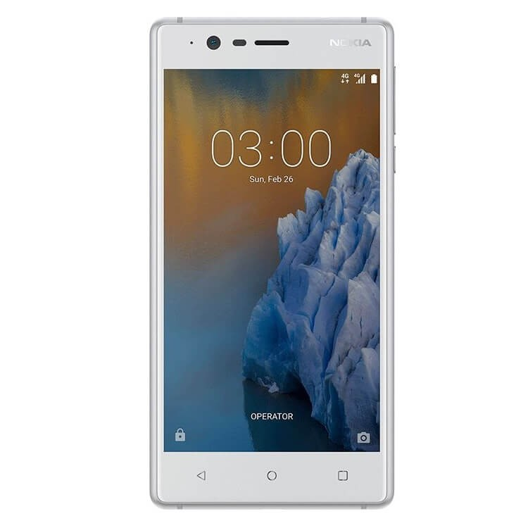 Nokia 3 DS White-Silver