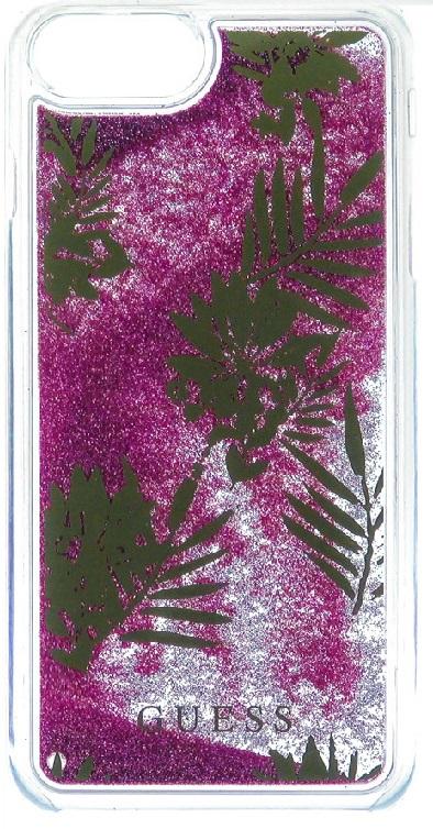 Pouzdro Guess Liquid Glitter Hard Palm Spring pro iPhone 6/6S/7, Rose
