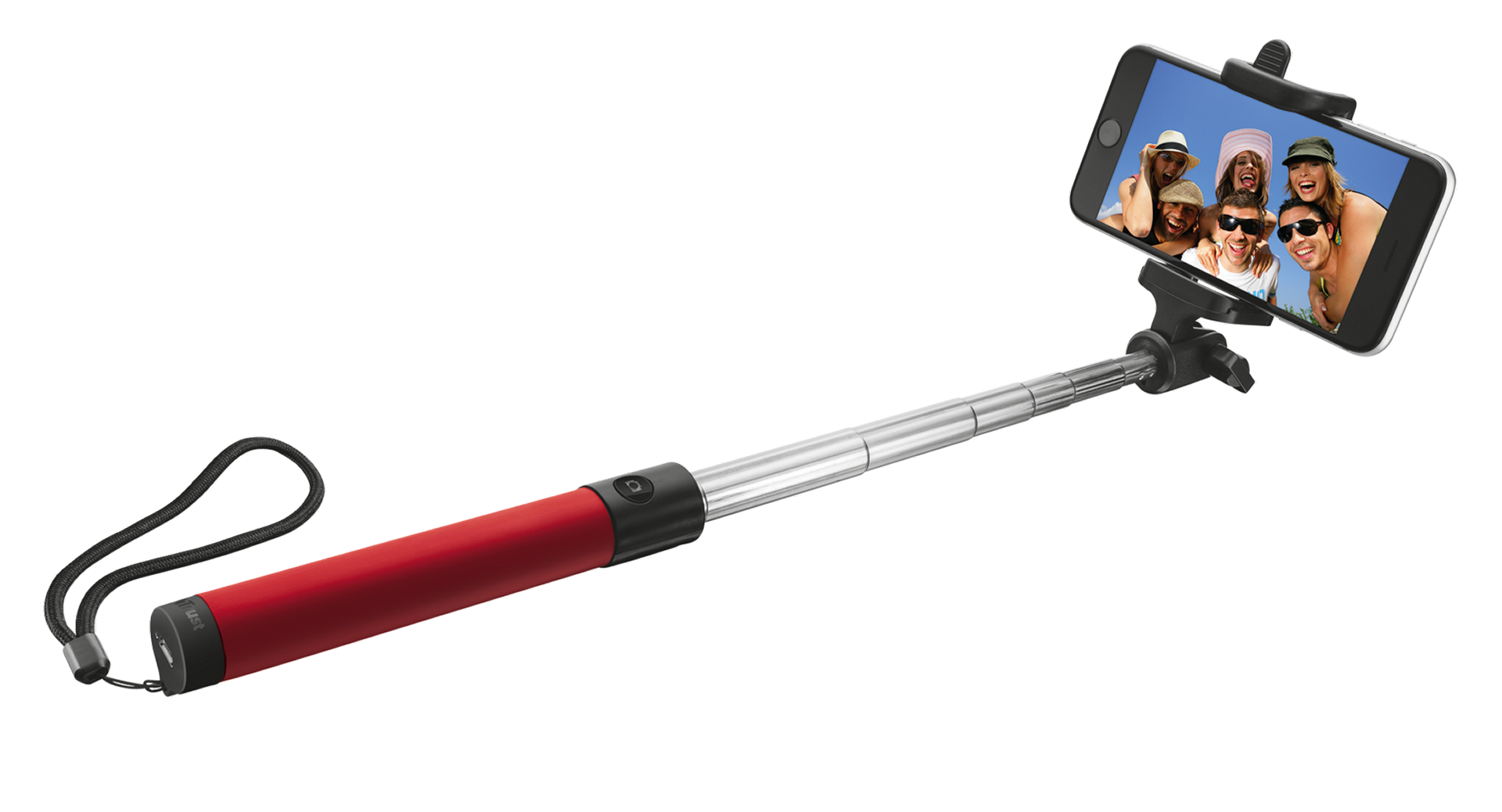 Trust Bluetooth Foldable Selfie Stick Red