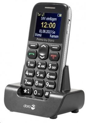 Mobilní telefon Doro Primo 215 šedý Grey