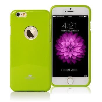 """Silikonové pouzdro MERCURY JELLY CASE HOLE pro Apple IPHONE 6/6S (4,7"""") LIMETKOVÉ"""