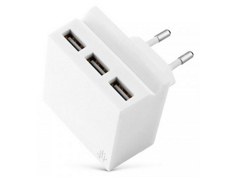 USBEPOWER HIDE MINI nabíječka 3 USB White