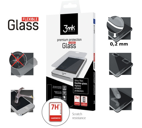 Tvrzené sklo 3mk FlexibleGlass pro Huawei P10 Plus