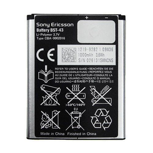 Baterie Sony Ericsson BST-43 Li-Pol 1000mAh (bulk)