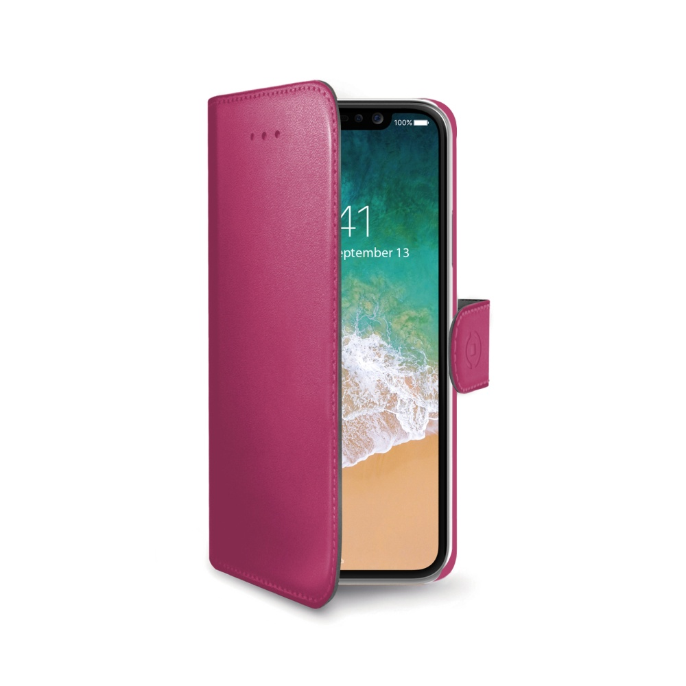 CELLY Wally pouzdro flip Apple iPhone X pink