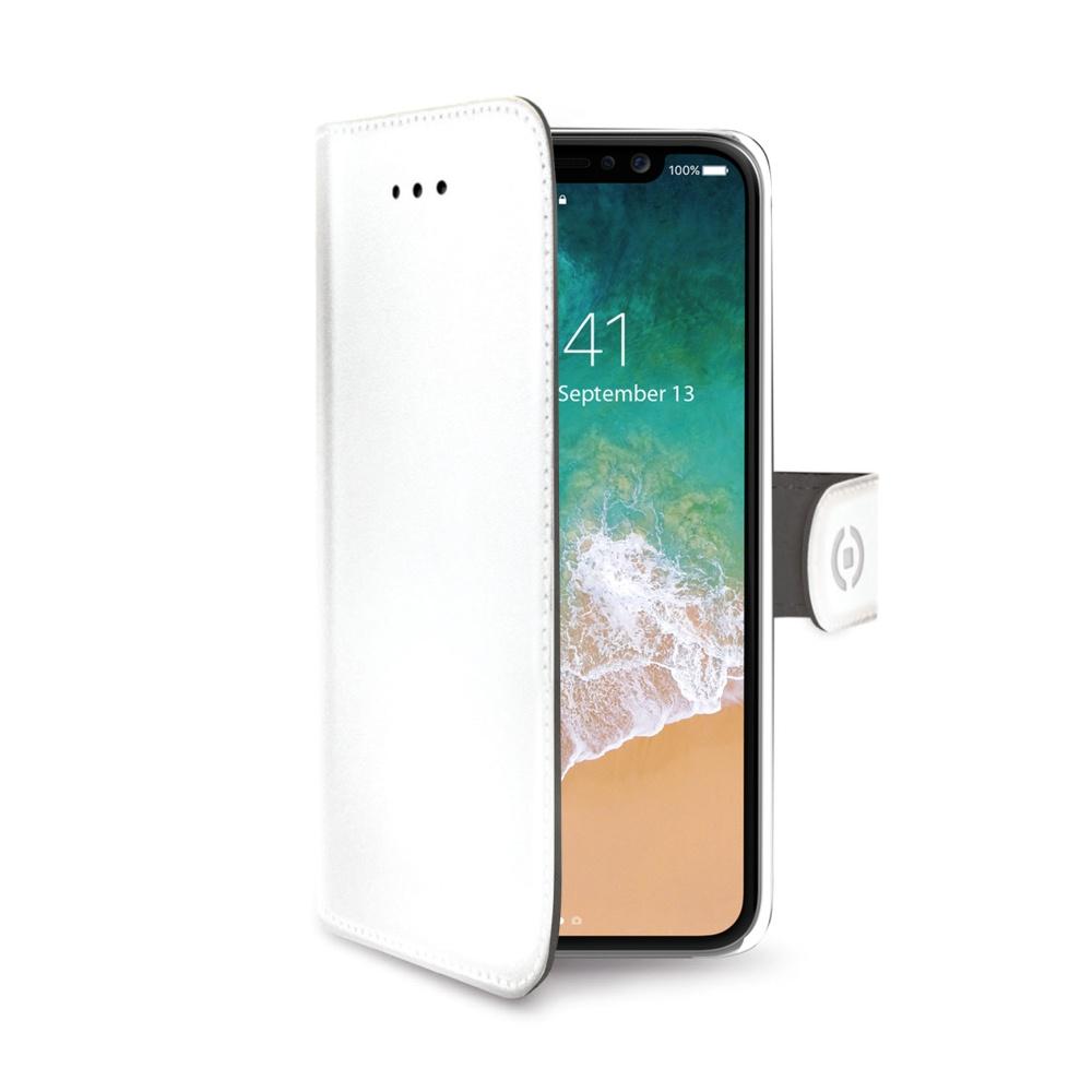 CELLY Wally pouzdro flip Apple iPhone X white