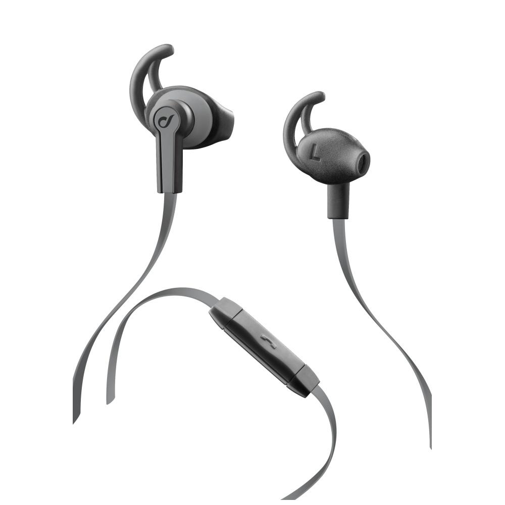 In-ear sluchátka CELLULARLINE SPORT SPRING grey