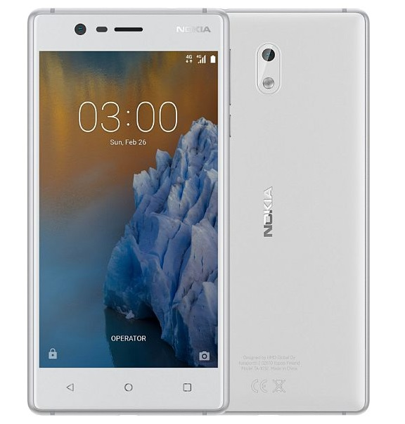 Nokia 3 White / SilverZDARMA Protiskluzová podložka pro mobilní telefony v hodnotě 199 Kč. + DOPRAVA ZDARMA
