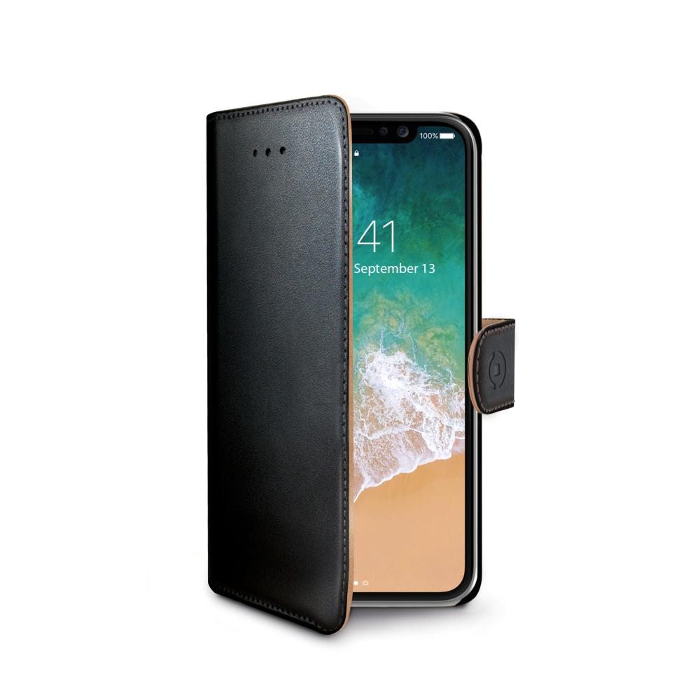 CELLY Wally pouzdro flip Apple iPhone X black